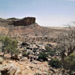 La falaise de Bandiagara où les dogons se sont réfugiés au XIVème siècle